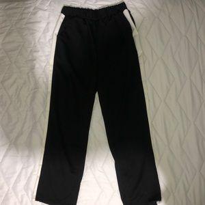 Black Pants With White Stripe